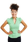 Happy woman smiling Royalty Free Stock Photography