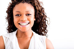 Happy woman smiling Royalty Free Stock Photo