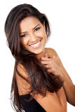 Happy woman smiling Stock Photography