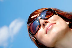 Happy woman smiling Royalty Free Stock Images
