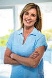 happy woman smiling at the camera Stock Images