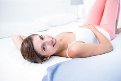 Happy woman smiling at camera Stock Images