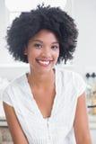 Happy woman smiling at camera Royalty Free Stock Photos