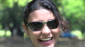 Happy Woman, Smiling Female, Sunglasses stock video
