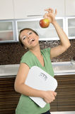 happy woman smiling healthy diet Royalty Free Stock Images