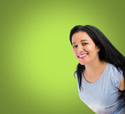 Happy woman smiling Stock Images