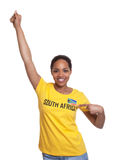 Happy woman from South Africa Stock Image
