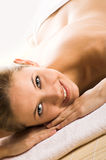 Happy woman in a spa Royalty Free Stock Images