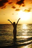 Sunset woman Royalty Free Stock Photos
