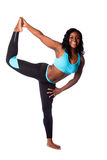 Happy woman stretching Stock Images