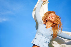 Happy woman - success Royalty Free Stock Images