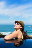 Happy woman on summer car travel Royalty Free Stock Photos