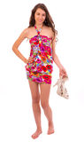 Happy Woman a in summer dress Royalty Free Stock Photography