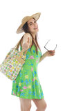 Happy woman on summer vacation Royalty Free Stock Image