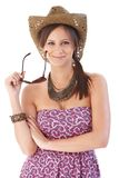 Happy woman at summertime Royalty Free Stock Photo