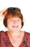 Happy woman with sunglasses Royalty Free Stock Photo