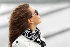 Happy woman in sunglasses Royalty Free Stock Photos