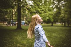 Happy young girl. royalty free stock photography