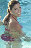 Happy Woman In Swimming Pool Royalty Free Stock Images