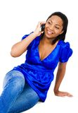 Happy Woman Talking On Mobile Royalty Free Stock Photography