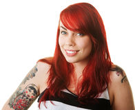 Happy Woman with Tattoo Royalty Free Stock Photo