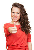 Happy woman with thumbs up Stock Photos