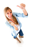 Happy woman with thumbs up Royalty Free Stock Image