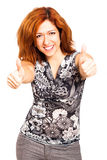 Happy woman thumbs up Royalty Free Stock Photography