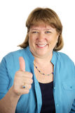 Happy Woman Thumbsup Stock Photos