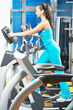 Happy woman with at training gym Stock Photography