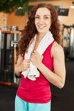 Happy woman training at the gym Royalty Free Stock Photos
