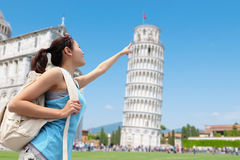Happy woman travel in Italy Stock Photography