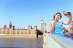 Happy woman travel in London Stock Images
