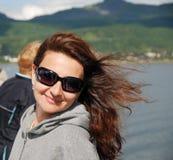 Happy woman traveling Stock Photo