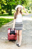 Happy woman traveling Royalty Free Stock Photography