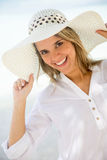Happy woman on vacations Royalty Free Stock Image