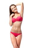 Happy woman wearing bikini Royalty Free Stock Image