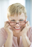 Happy Woman Wearing Eyeglasses Royalty Free Stock Image