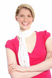 Happy woman wearing a scarf Royalty Free Stock Images