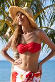 Happy Woman Wearing Summer Fashion Outfit Royalty Free Stock Image