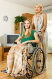 Happy woman in wheelchair Royalty Free Stock Photo