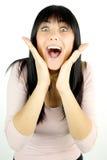 Happy woman who has found a great idea Stock Photo