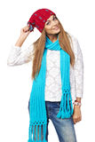 Happy woman in winter clothing Royalty Free Stock Photo