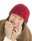 Happy woman in winter Stock Photo