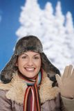 Happy woman at winter Royalty Free Stock Images