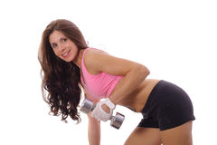 Happy woman working out Stock Photography