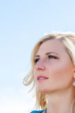 Happy womanin portrait Royalty Free Stock Images