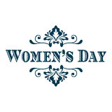 Happy Womans Day lettering. Vector illustration background stock illustration