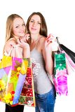 Happy womans in shop Stock Image