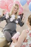 Happy Women At A Baby Shower Royalty Free Stock Photos